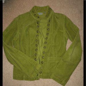 Gorgeous Green Corduroy CHICO's Blazer size 4